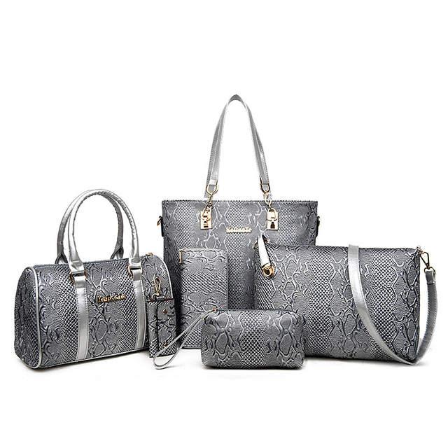 HerMerce 6 pic Luxury Handbags Women Bags Designer Top-handle Bags Set  Shoulder Bag Female 22bf190292d08