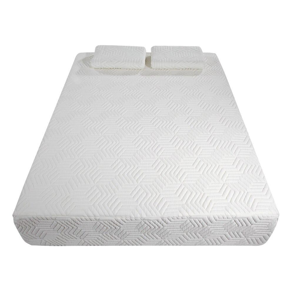 Schlafzimmer Möbel Uns Lager 10 drei Schichten Atmungsaktive Baumwolle Matratze Pad Kühlen Medium Hohe Weichheit Memory Foam Matratze Mit 2 Kissen Weiß