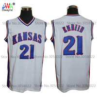 2017 New JOEL EMBIID Jersey 21 Kansas Jayhawks KU College Mens Cheap Throwback Basketball Jersey Stitched