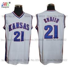 3e532677393 2017 New JOEL EMBIID Jersey  21 Kansas Jayhawks KU College Mens Cheap Throwback  Basketball Jersey