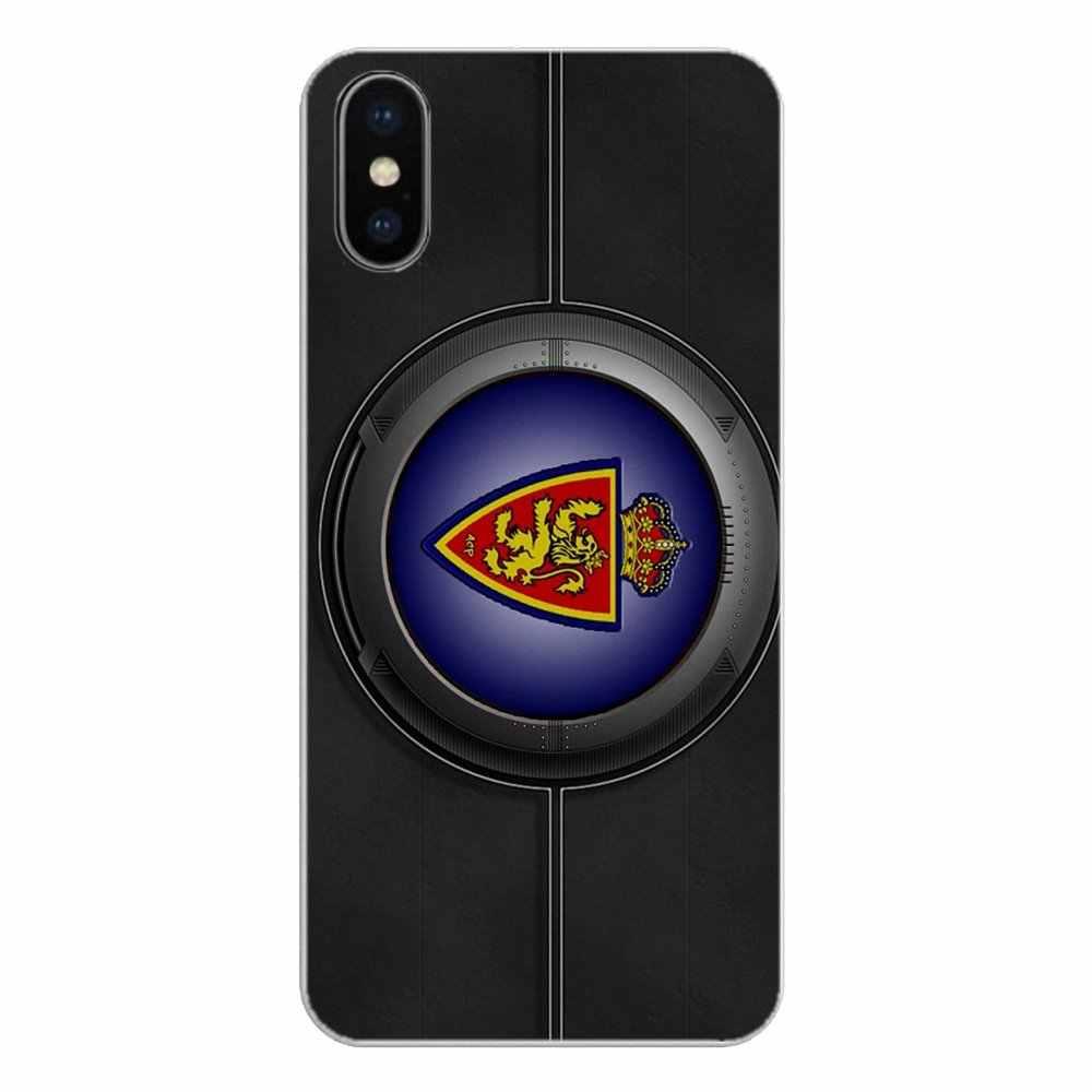 Apple の Iphone 4 4 S 5 5 S 5C SE 6 6 S 7 8 × XR XS プラス最大シリコーン電話シェルカバーリアル Zaragoza FC チームサッカーロゴ