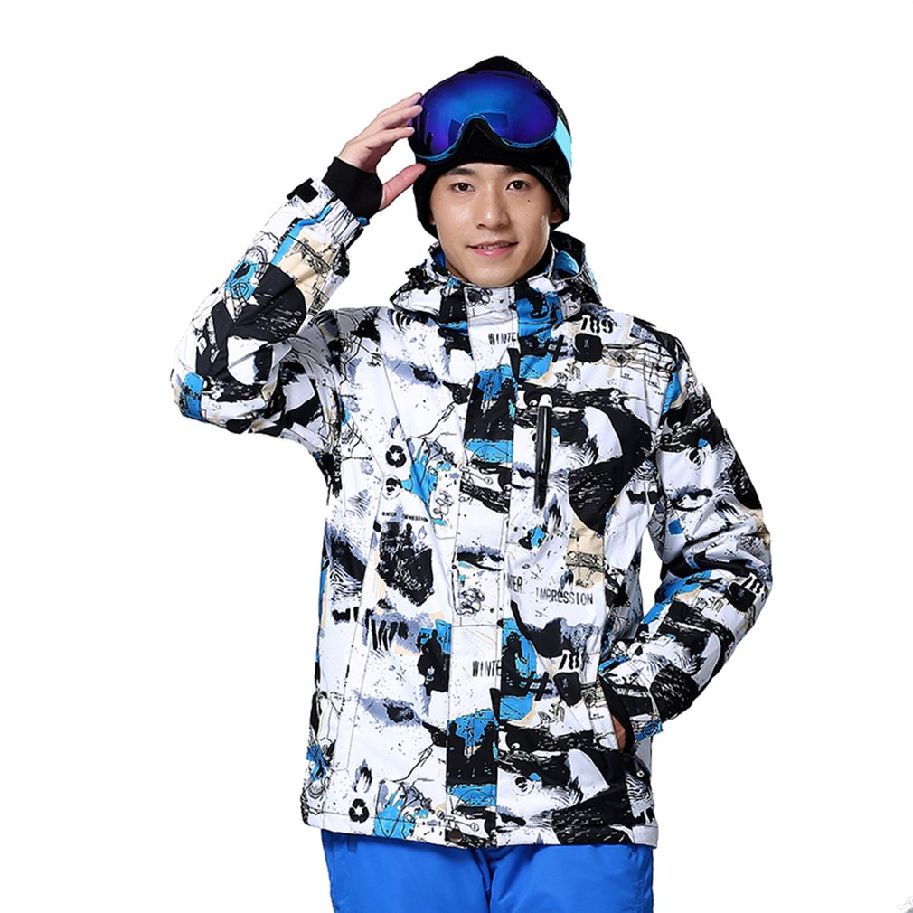 Professional Ski Jacket for Men Waterproof Windproof Warm for Outdoor Hiking Snowboarding Cycling men and women winter ski snowboarding climbing hiking trekking windproof waterproof warm hooded jacket coat outwear s m l xl