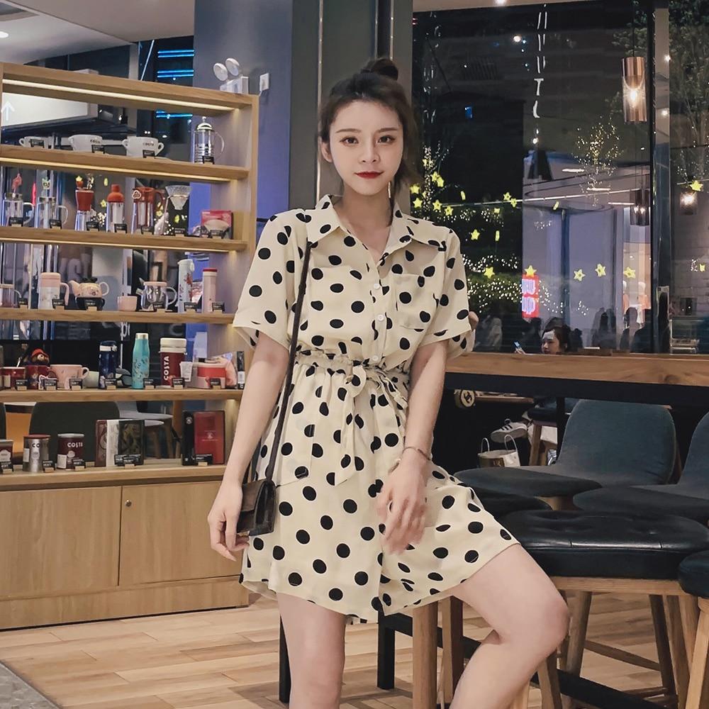 2019 été femmes vacances décontracté manches courtes combinaisons mode dames Boho body large jambe lâche pantalon - 5