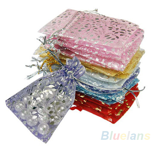 2016 New Arrival25pcs set Organza Jewelry Wedding Gift Pouch Bags 7x9cm 3X4 Inch Mix Color for