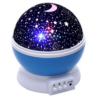 Room Novelty Night Sleep Light Projector Lamp Rotary Flashing Starry Star Moon Sky Star Projector Kids