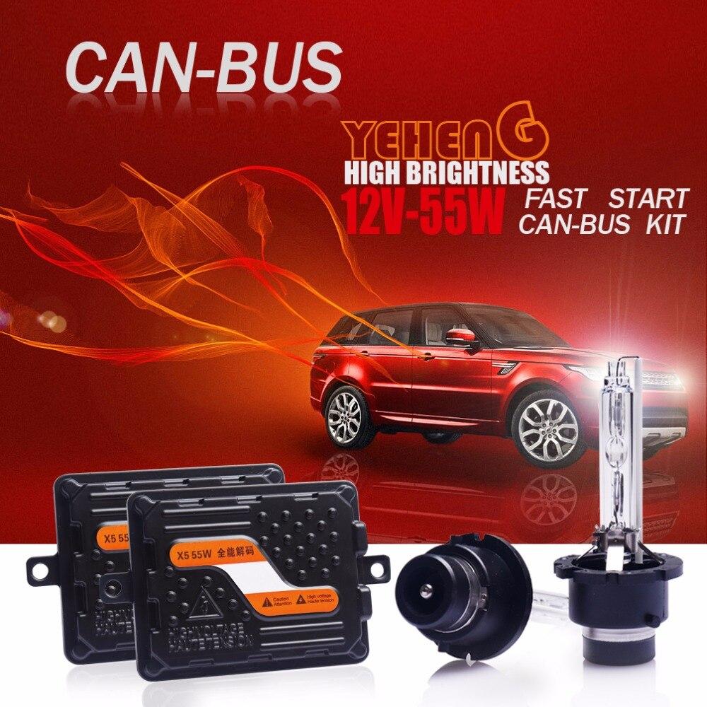 YEHENG D2S EMC Canbus D2R HID Kit rapide lumineux 55 W ampoule xénon H1 H7 H11 9012/HIR2 d4s H4 bi-xénon projecteur ampoule phare 6000 K
