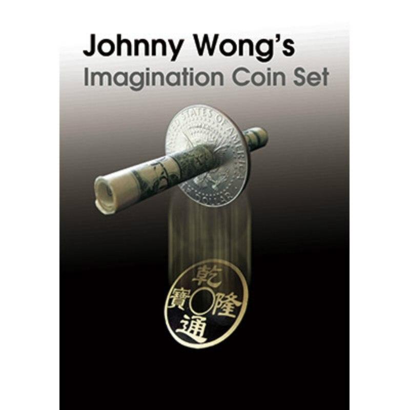 Jeu de pièces d'imagination (avec DVD) de Johnny Wong Gimmick tours de magie, mentalisme, magie rapprochée, Illusion, accessoires Coin de magicien