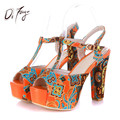 DRFARGO New Ankle Strap Summer Shoes Woman 14cm High-heeled 4cm Platform Sandals Fashion Wedding Girls Pumps Big Size Zapatalis