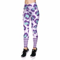 Europe New Leopard Sexy Hip Women Leggings Trousers Yoga Fitness Elastic Tights Girls Breathable High Waist