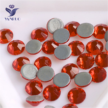 YANRUO 2058HF SS20 Hyacinth 1440Pcs Glass Strass Flat Back Stones And Crystals  Hot Fix Rhinestones For b12646841c21