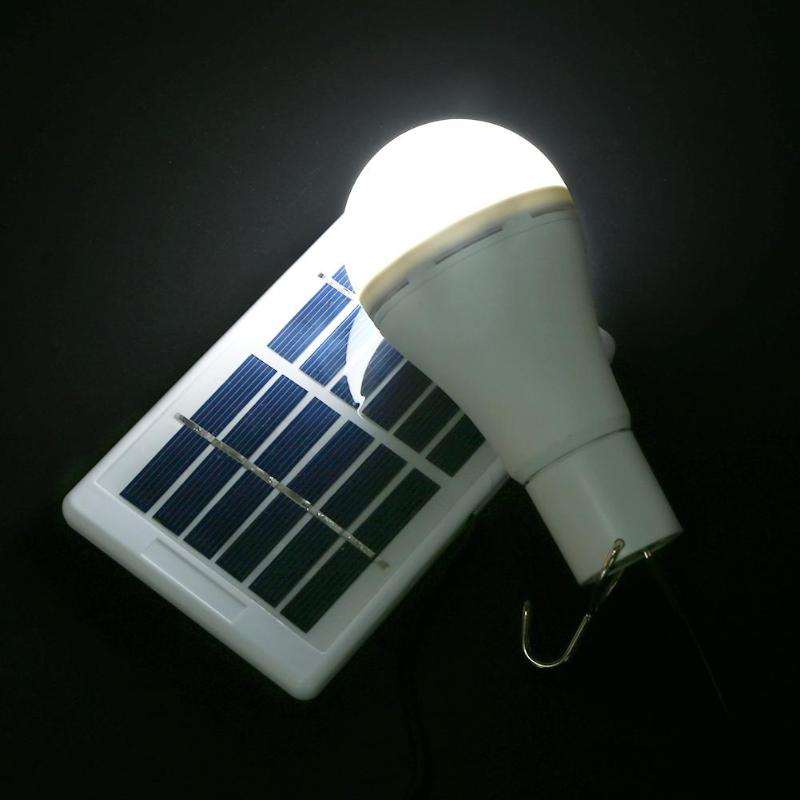 Portable Solar Light 5 Modes 20 COB LED Solar Light USB Rechargeable Energy Bulb Lamp for Outdoors Camping Tent Solar Lamp 2018 new solar bulb usb 5 8v charged lamp 15w indoor outdoor lampada led solar light usb rechargeable solar emergency light bulb
