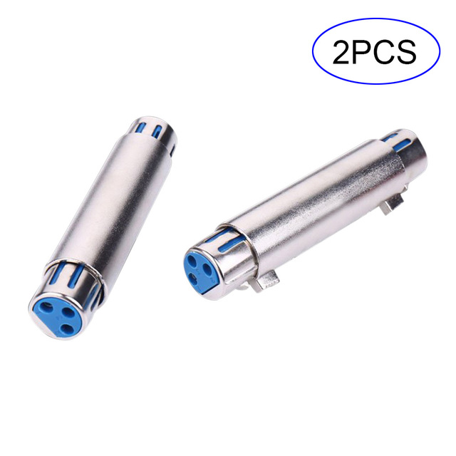 2pcs 3 Pin Xlr Female To Xlr Female Jack Connector