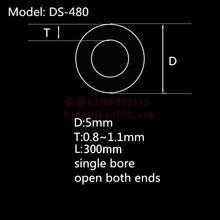 99.5% Al2O3 высокое Термальность Корундовая трубка OD5.0* ID3.0mm/Круглый один-диаметр трубка из оксида алюминия/изолировочный керамическое для Датчики термопары