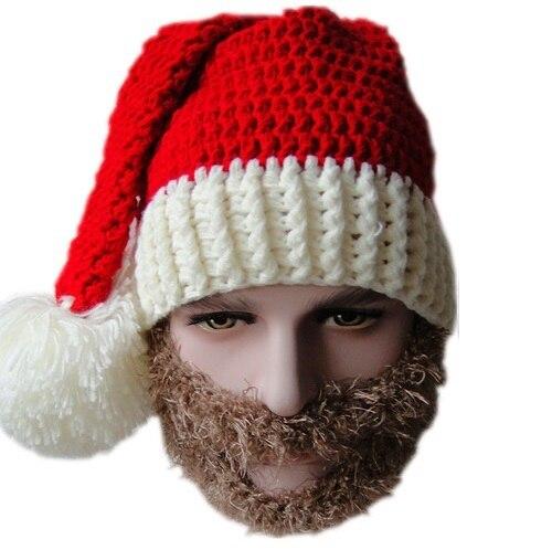 Winter Hats Knit Santa Claus Beanie Hats Men Skull Face Mask Beard