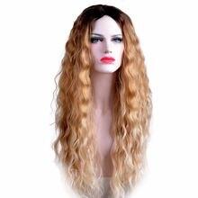 Feibin длинные светлые парики с эффектом омбре для женщин синтетические