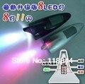 1 Pcs Piscando luzes do carro antena tubarão modificação do carro luz placa lâmpada luzes do carro luz solar anti-colisão