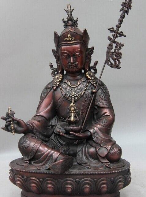 Оптовая продажа фабрики Китая Буддизм Fane Медь падмасамбхава Лотос мастер монах статуя Будды