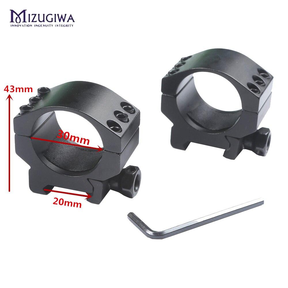 Mizugiwa Low Profile 6 Bolts 30mm Ring Weaver Heavy Duty 20mm Picatinny Rail Base Scope Mount Rifle Scope Hunting Accessories