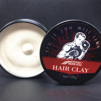 Hair Styling Cream 100g Tipo Long-lasting Estereótipos Seca Lama Cabelo Cera De Cabelo para o Cabelo Curto