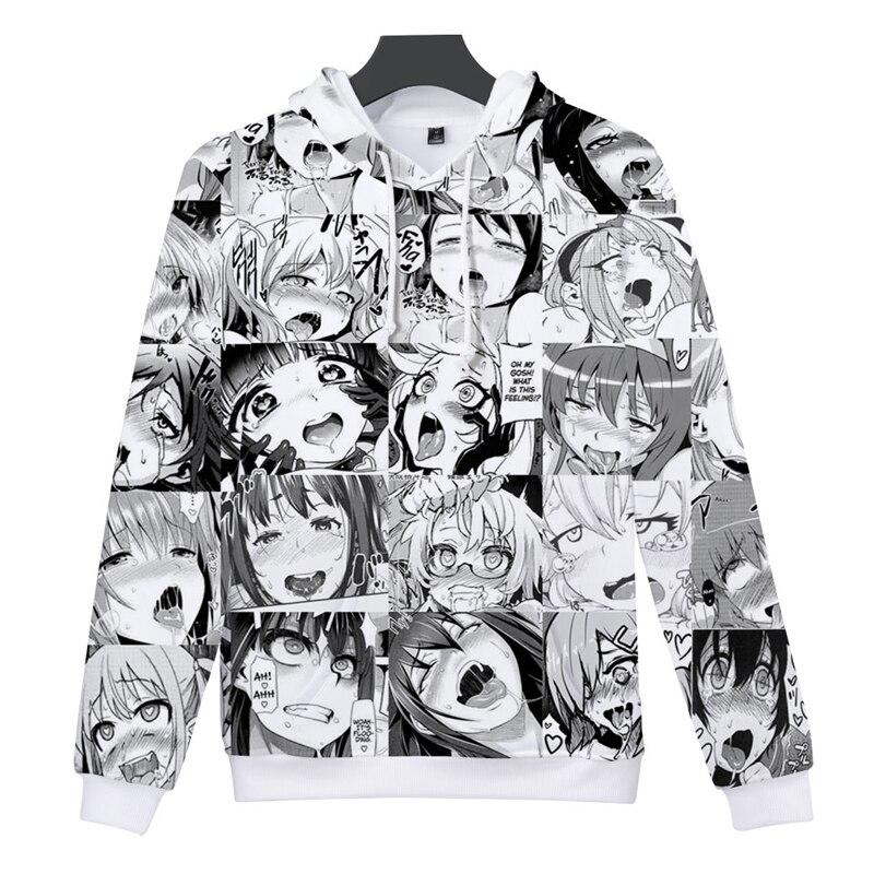 New Fashion Women//Men Anime Ahegao Funny 3D Print Casual Hoodies Sweatshirt 67