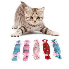 5pcs Cat Toys Christmas Candy Catnip Pets Kitten Teaser Interactive Funny Supply Kitty Playing