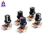 5 PCS/Lot Potentiometer Resistor 1K 10K 20K 50K 100K 500K Ohm 3 Pin Linear Taper Rotary Potentiometer for Arduino with Cap