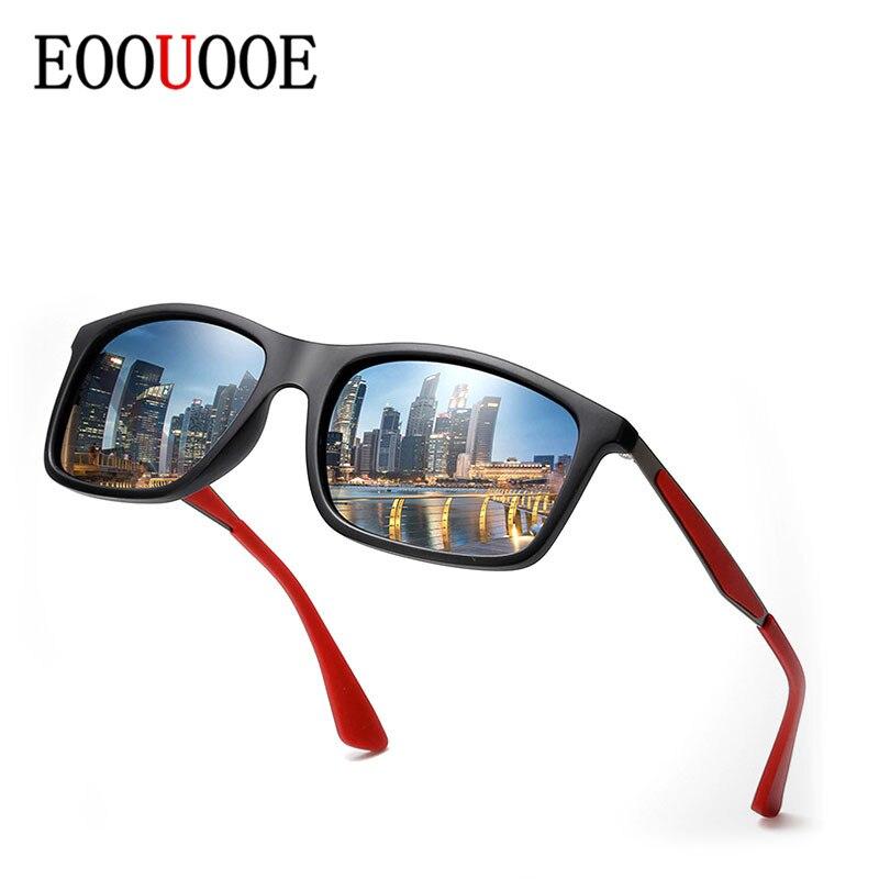 61b5f66046 Gafas de sol polarizadas EOOUOOE de marca de diseñador de hombre de  negocios conducción de Sol de vidrio masculino verde oscuro Vintage Gafas  cuadradas
