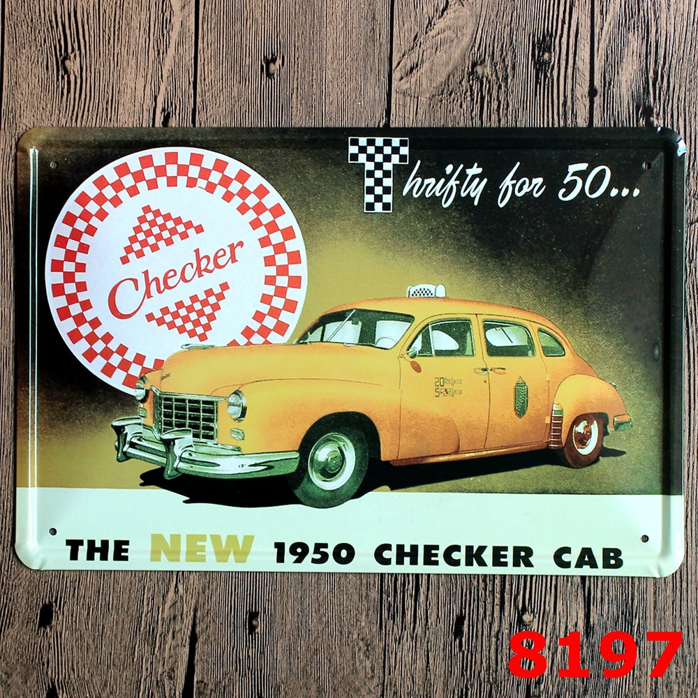 30X20CM Yellow Car Vintage Home Decor Tin Sign for Wall Decor Metal ...