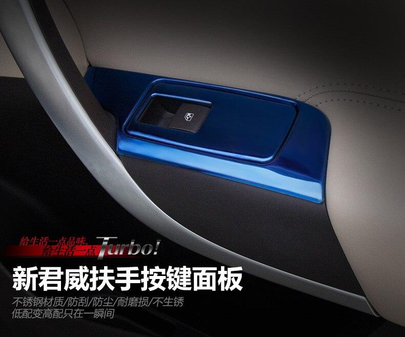 Car Styling 4 pz/set Interni In Acciaio Inox per Porte E Finestre Interruttore di Sollevamento Pannello di Copertura Per Buick Regal 2009-2016 Insignia 2014-2017