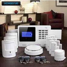 HOMSECUR Wireless GSM SMS Burglar Alarm System+4 Pet Friendly Motion Sensors
