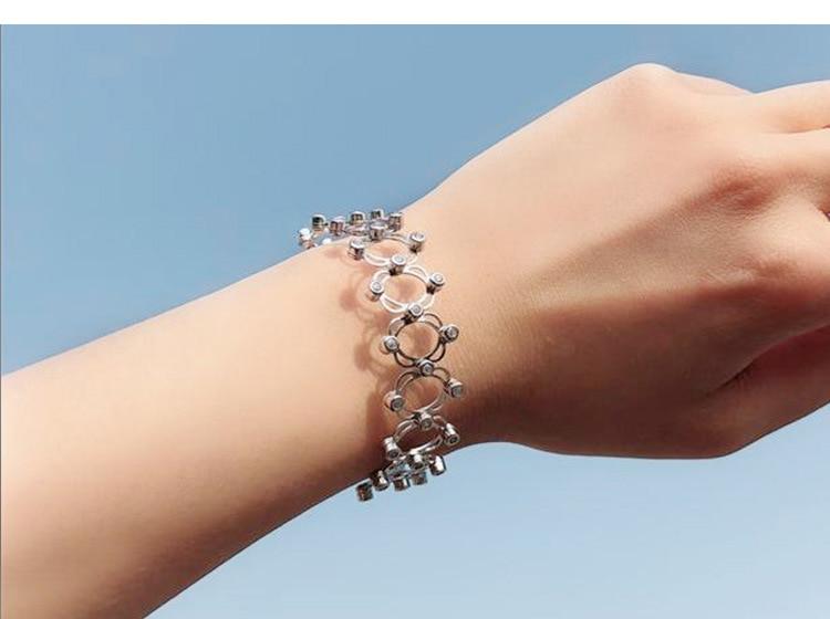 Bagues de fiançailles bijoux de marque de mode pour femmes S925 bague en argent sterling déformée 925 bagues d'amour en argent sterling - 6