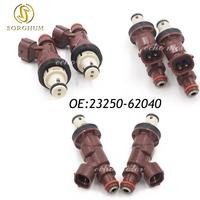 New Set(6) Fuel Injectors 23250 62040 For Toyota Tacoma Tundra 4Runner 3.4L V6 23209 62040 2320962040 2325062040 23250 62040