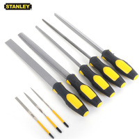 Stanley 8pc file set flat half round triangular files kit with pouch for jewelry glass metal working carpentry tools woodworking
