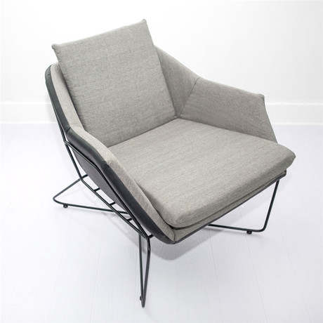 Office Sofas Office Furniture Commercial Furniture Iron Frame+leather/linen  One Seat Sofa Chair