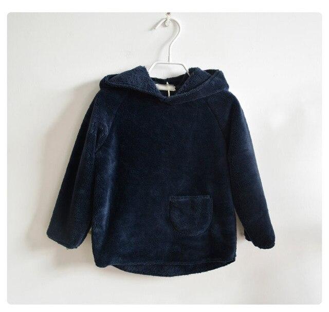 2016 новых детей одежды младенца мальчики девочки зима теплый бархат утолщение полный рукав пальто с капюшоном наряды плюс бархата пальто