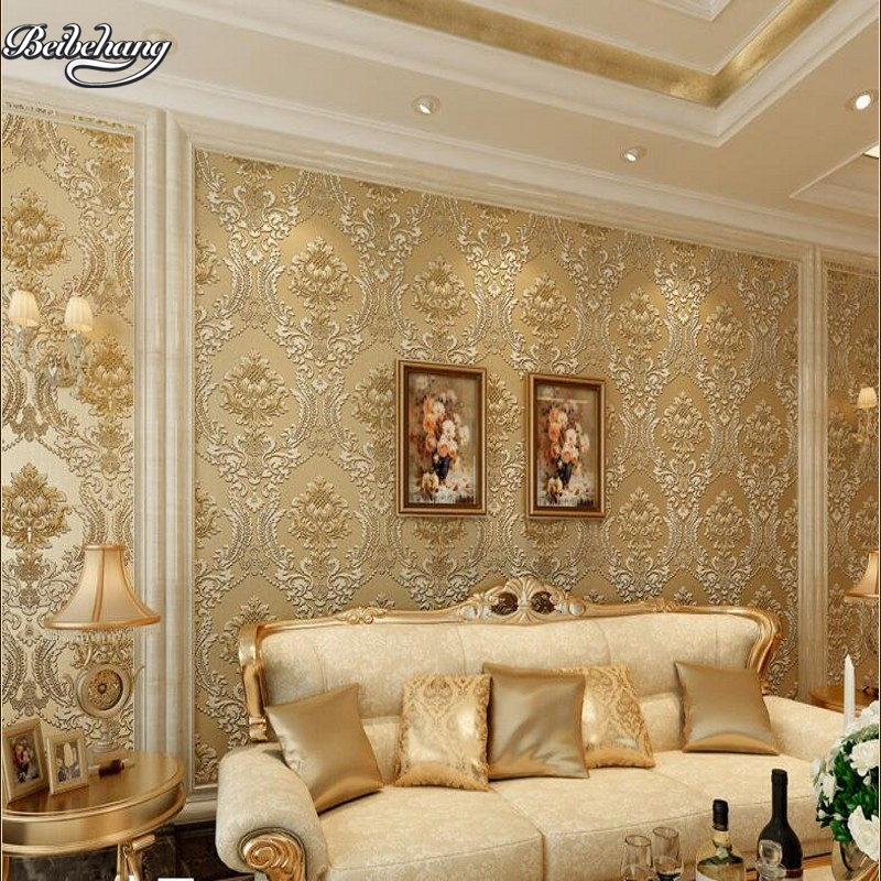 Beibehang Classic 792801 Non Woven Warm Living Room Wallpaper