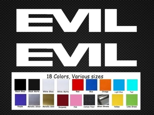Evil bike decals Set 2 AUTOCOLLANTS du VTT de descente Revolt Dirt