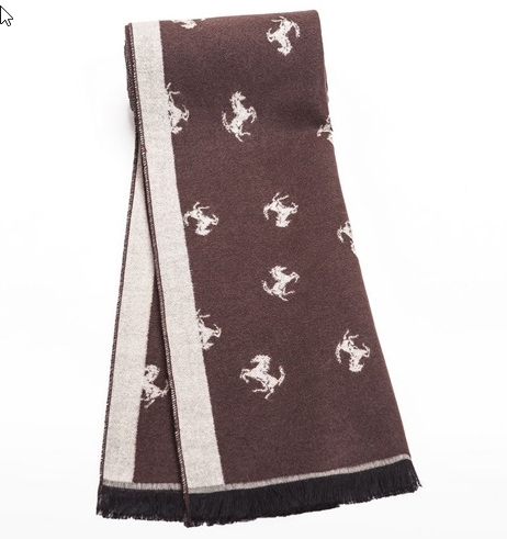 Horse Print Trim Border Scarf | Men's Scarves | Up to 60% Off Now
