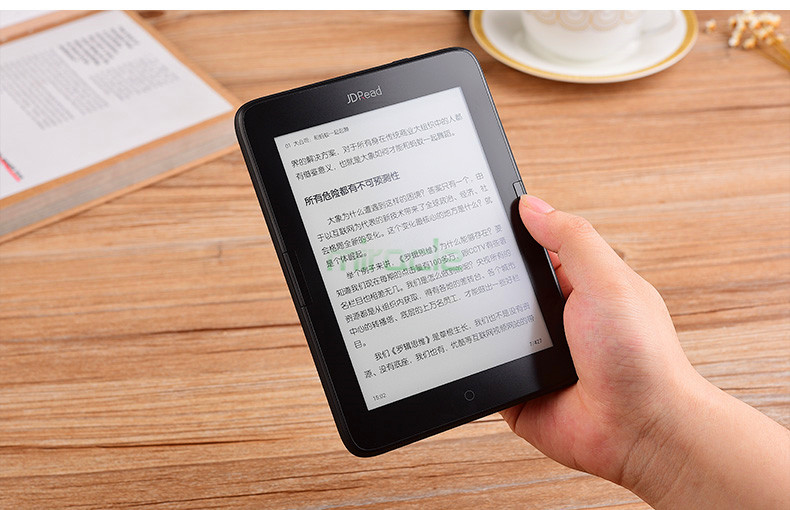 Boyue JDRead ebook reader T63 dual core cpu e ink 300PPI touch screen built in backlight front light Android ebook TP LENS WIFI ...