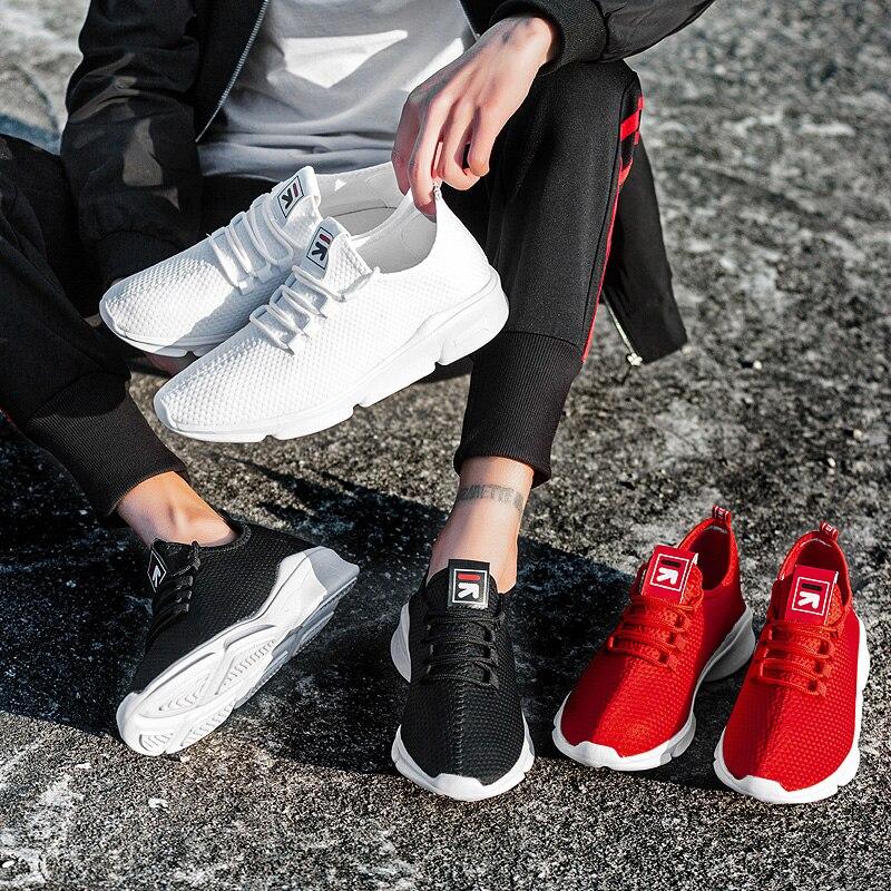 Db089 Black Base De Marche red Solide Printemps Appartements Chaussures Lumière Sneakers Mode Hommes white Nouveau Automne wHCp7Oq