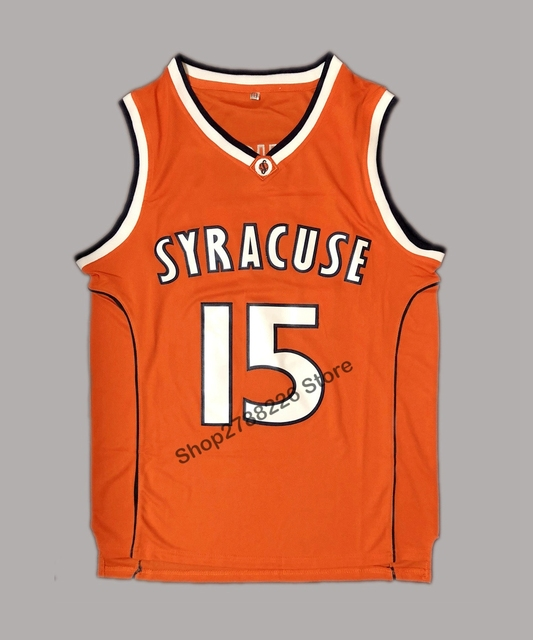 Carmelo Anthony 15 Syracuse College Basketball Jersey Orange In
