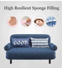 Modern Fashion Folding Washable Multifunctional Lazy Cotton & Linen Fabric Reclining Futon Chair Sofa Bed