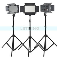 White Version Godox 1500W 3X LED 500W Photo Studio Video Continuous Light Stand Kit For Camera