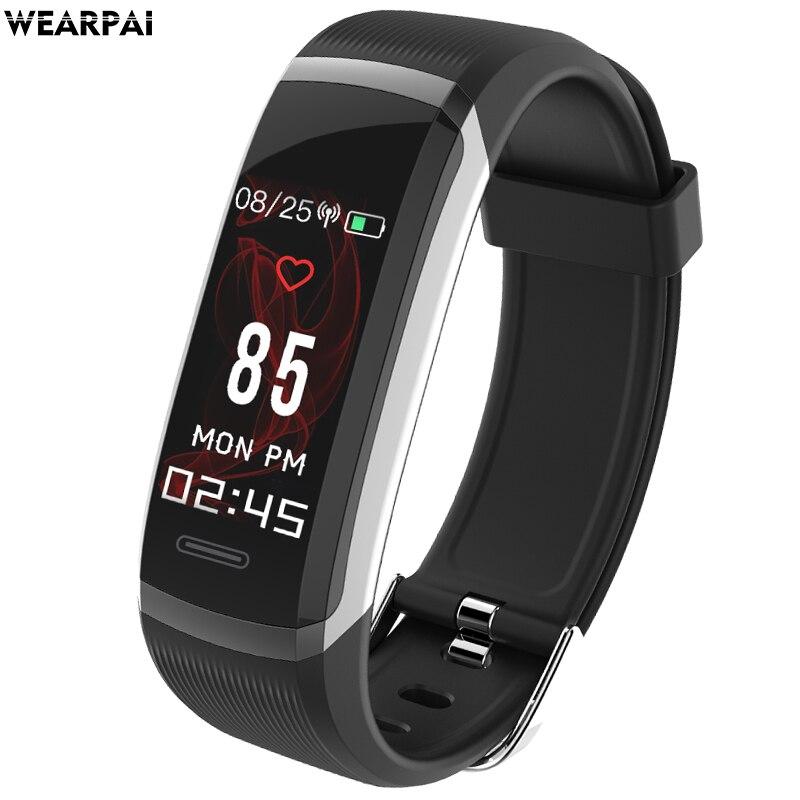 Wearpai GT101 Inteligente Pulseira btacelet Ecrã a Cores inteligente dos homens das mulheres do esporte Da Aptidão Rastreador monitor de freqüência cardíaca à prova d' água ip67