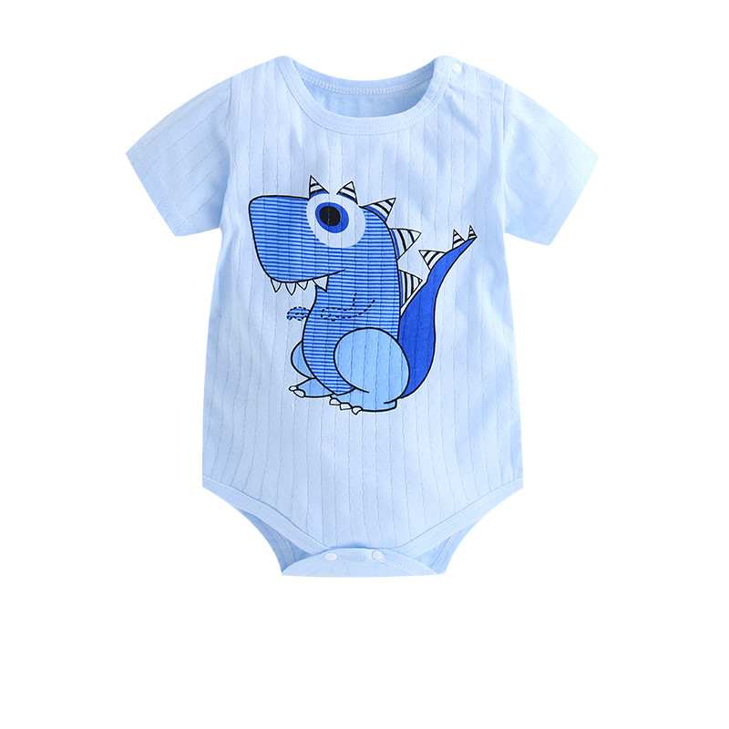 HTB160LAaEvrK1RjSspcq6zzSXXao New Summer Baby Boys Romper Animal style Short Sleeve infant rompers Jumpsuit cotton Baby Rompers Newborn Clothes Kids clothing
