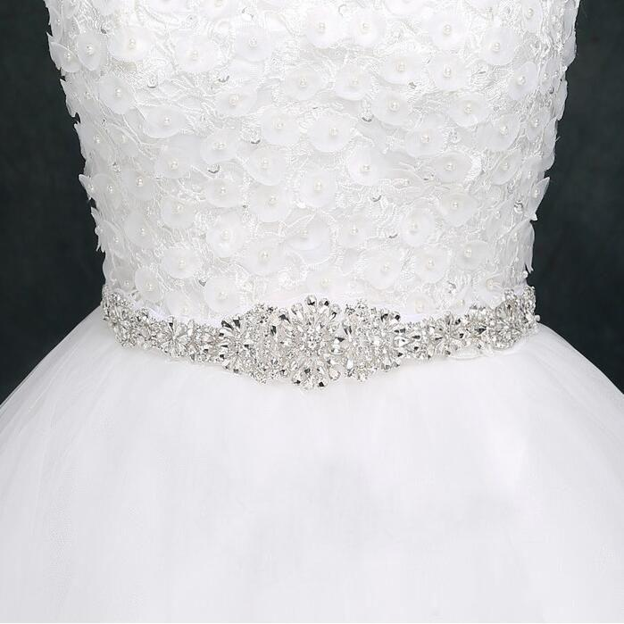 Rhinestone Belt Sashes Dresses-Belts Ribbon Bride Crystal Weddings For Luxurious