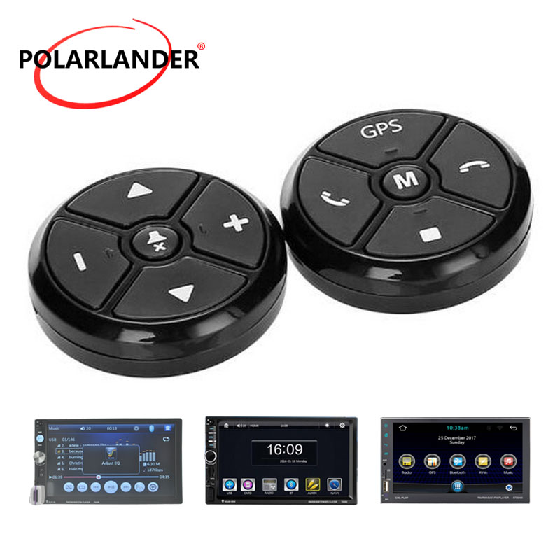 Car Steering Wheel Control Key Music Wireless DVD Radio Universal Remote Control GPS Navigation For Stereo Player Buttons Black