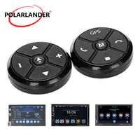 Controle de volante do carro chave música rádio dvd sem fio universal controle remoto navegação gps para o jogador estéreo botões preto