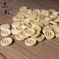100pcs 15mm Unfinished Natural Wood wooden button 4 holes No varnish for your handmade piece diy craft project pine edged