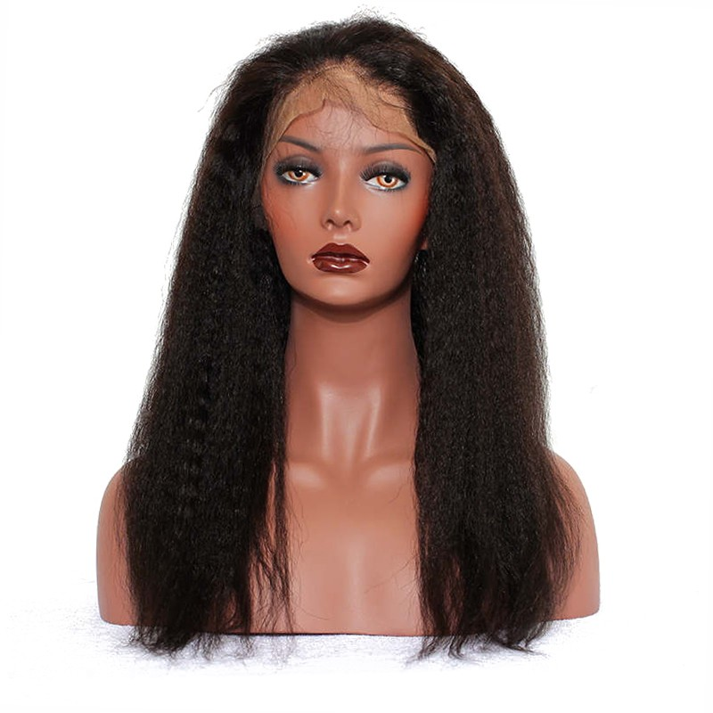 Pre Plucked 360 Lace Frontal Closure Natural Hairline With Baby Hair Brazilian Hair Kinky Straight Natural Black You May